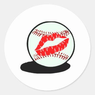 Baseball Kiss Sticker