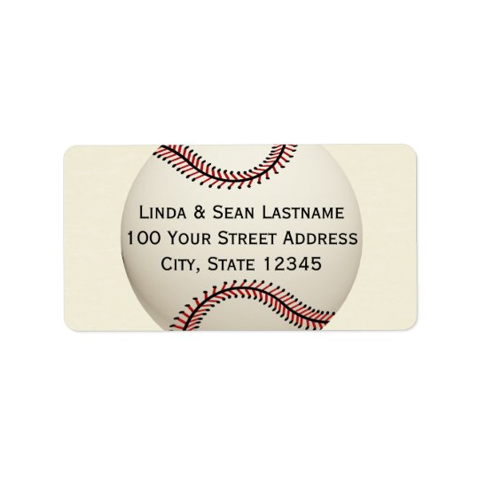 Baseball Label Address Label