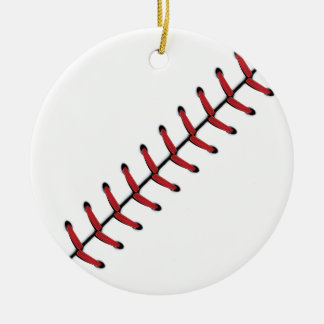 Baseball Lace Background 2 Ceramic Ornament