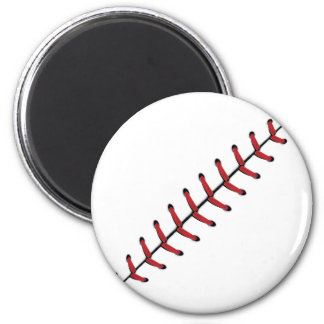 Baseball Lace Background 3 6 Cm Round Magnet