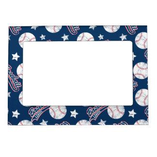 Baseball league magnetic frame