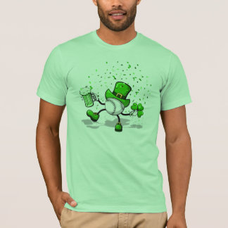 Baseball Leprechaun Light Green T-shirt