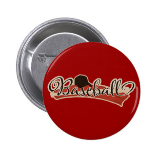 BASEBALL LOGO GRAPHICS RED BLACK NEUTRAL COLORS TE BUTTON