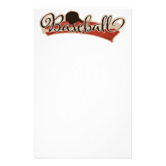 BASEBALL LOGO GRAPHICS RED BLACK NEUTRAL COLORS TE STATIONERY DESIGN
