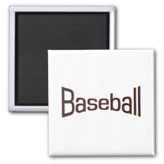 Baseball Fridge Magnet