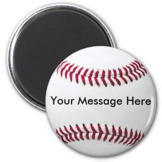 Baseball Magnet with Message