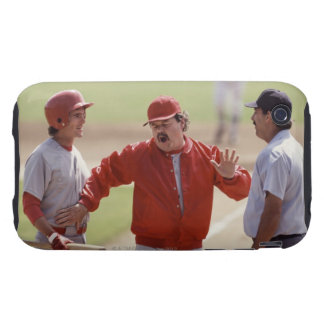 Baseball manager arguing with umpire and holding tough iPhone 3 covers