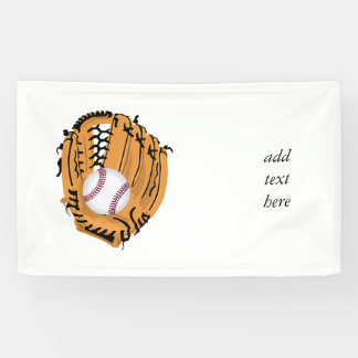 Baseball Mitt and Ball Banner