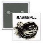 Baseball Mitt and ball Pinback Button
