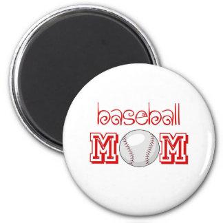 Baseball Mom 6 Cm Round Magnet