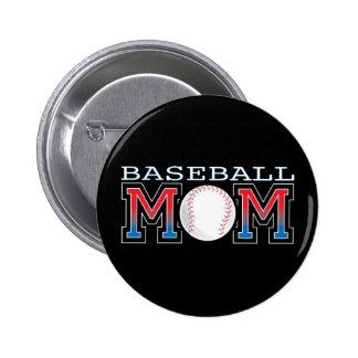 Baseball Mom 6 Cm Round Badge