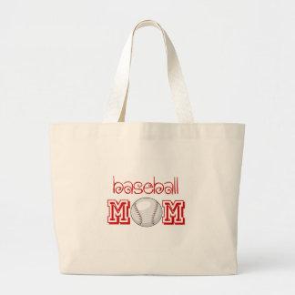 Baseball Mom Canvas Bags
