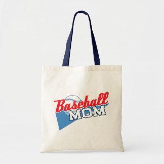 Baseball Mom Canvas Bag