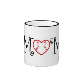 Baseball Mom, Black Coffee Mug