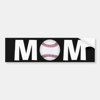 Baseball Mom Bumper Sticker Car Bumper Sticker
