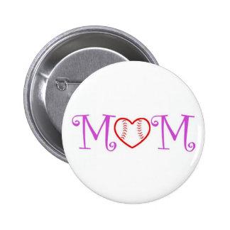 Baseball Mom Buttons