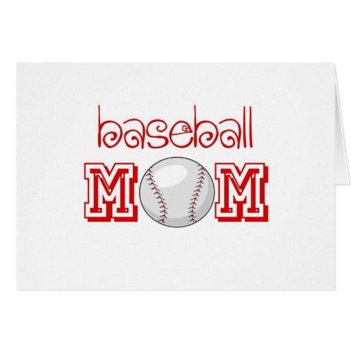 Baseball Mom Greeting Card