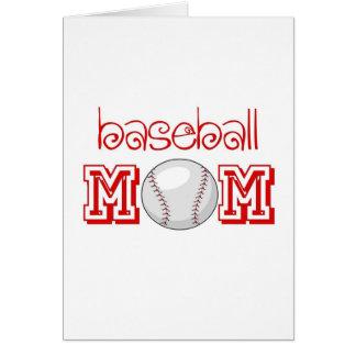 Baseball Mom Greeting Cards