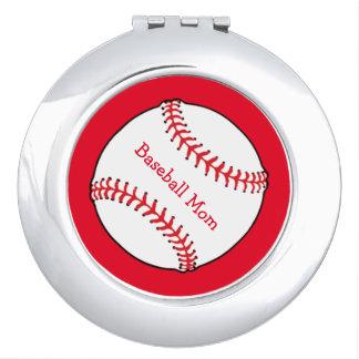 Baseball Mom Compact Mirror