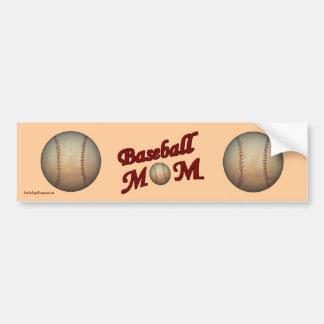 Baseball Mom Cute Bumper Sticker Car Bumper Sticker