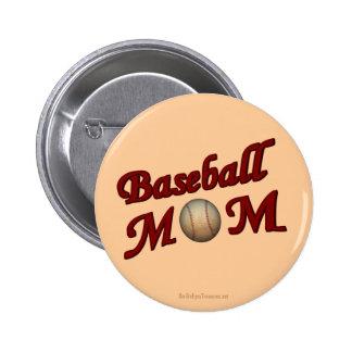 Baseball Mom Cute Button