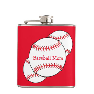 Baseball Mom Flask
