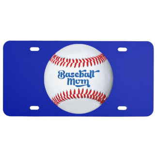 Baseball Mom Gift Idea Theme License Plate