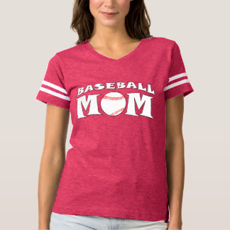 Baseball Mom Jersey Number Custom Football-Style T-Shirt