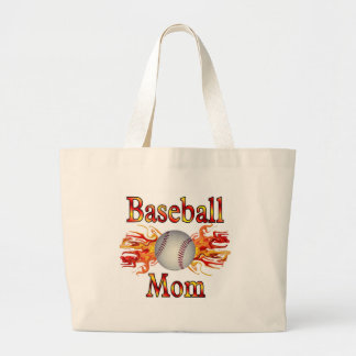 Baseball Mom Jumbo Tote Bag