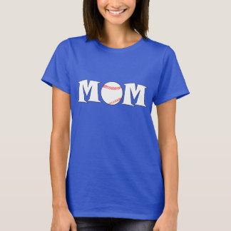 Baseball Mom Name and Jersey Number Custom T-shirt