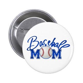 Baseball Mom Pinback Button