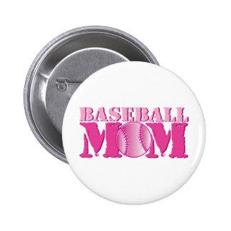 Baseball Mom pink Button