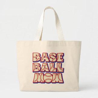 Baseball MOM, red-wh-blue Canvas Bag