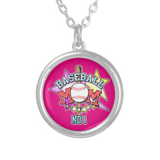 Baseball Mom Silver Plated Necklace