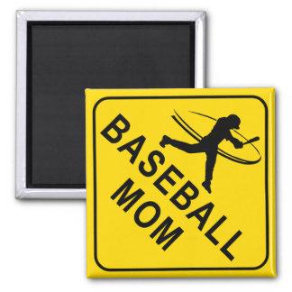 Baseball Mom Square Magnet
