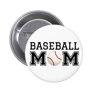 Baseball mom text design for t-shirt shirt pinback button