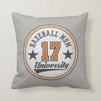 Baseball Mom Throw Pillow