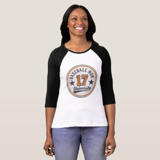 Baseball Mom University half sleeve baseball shirt