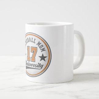 Baseball Mom University jumbo coffee mug