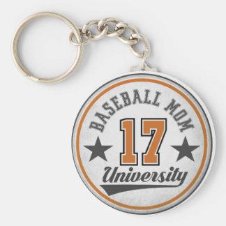 Baseball Mom University Key Chain