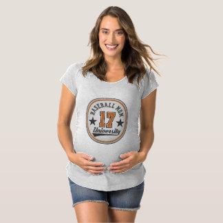 Baseball Mom University Maternity T-shirt