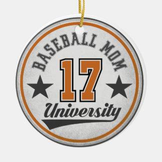 Baseball Mom University Ornament