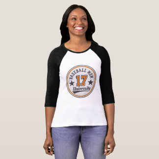 Baseball Mom University women's half-sleeve shirt