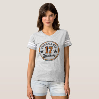 Baseball Mom University women's V-neck shirt