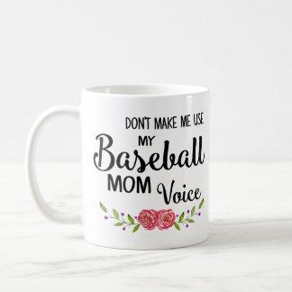 Baseball Mom Voice Coffee Mug