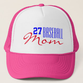 Baseball Mom with Jersey Number Trucker Hat