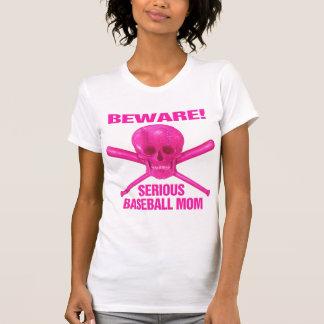 Baseball Mom with Skull T Shirts