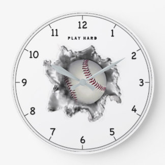 Baseball Motivation Large Clock