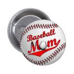 Baseball Mum Button