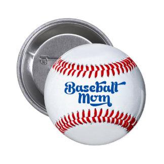 Baseball Mum Gift Button